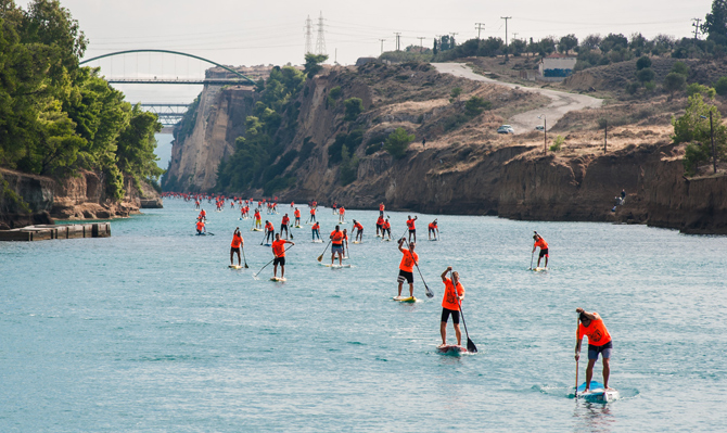 6th Corinth Canal Paddle Crossing