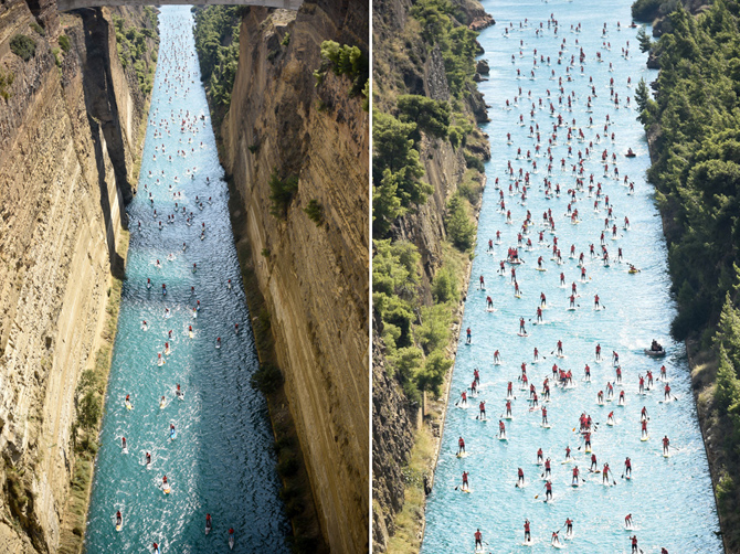 8th Corinth Canal SUP Crossing