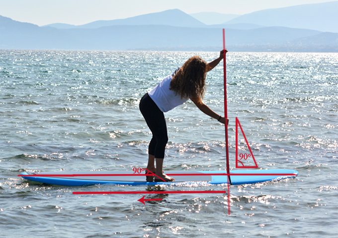 how to paddle straight