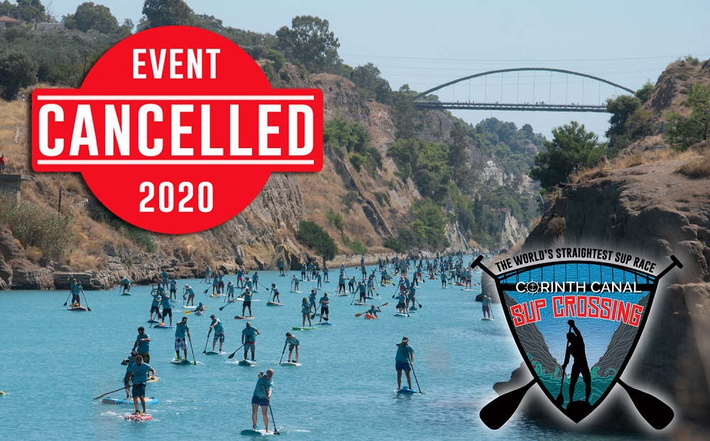 Corinth Canal SUP Crossing 2020 Canceled - To 10oCorinth Canal SUP Crossing 2020 αναβάλλεται για το 2021